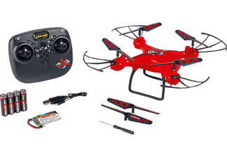 CARSON X4 Quadcopt.Dragon 330 2.4G 100% RTF ferngesteuerte Drohne, Rot