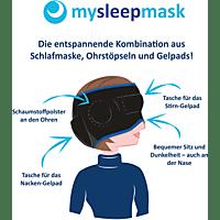 DIE HÖHLE DER LÖWEN Mysleepmask Schlafmaske S/M, Schwarz/Blau