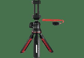 HAMA Solid II, 21B Tischstativ mit Bluetooth-Fernauslöser BRS2 Dreibein Tischstativ, Schwarz, Höhe offen bis 21 cm