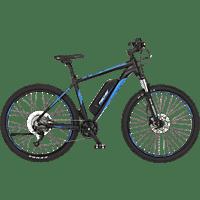 FISCHER Montis 2.0 Mountainbike (Laufradgröße: 27,5 Zoll, Rahmenhöhe: 48 cm, Unisex-Rad, 422 Wh, Schwarz Matt / Blau)