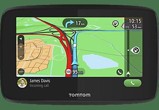 TomTom Navigationsgerät GO Essential (5 Zoll, Stauvermeidung dank TomTom Traffic, Karten-Updates Europa, Freisprechen, Updates über Wi-Fi, hochwertige Halterung)