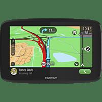 TomTom Navigationsgerät GO Essential (6 Zoll, Stauvermeidung dank TomTom Traffic, Karten-Updates Europa, Freisprechen, Updates über Wi-Fi, hochwertige Halterung, TMC)