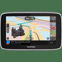 TomTom Navigationsgerät GO Premium (5 Zoll, Stauvermeidung dank TomTom Traffic, Karten-Updates Welt, Updates über Wi-Fi, Freisprechen, hochwertige Halterung)