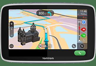 TomTom Navigationsgerät GO Premium (6 Zoll, Stauvermeidung dank TomTom Traffic, Karten-Updates Welt, Updates über Wi-Fi, Freisprechen, hochwertige Halterung)