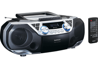 LENCO SCD-120SI Radiorekorder, Silber/Schwarz