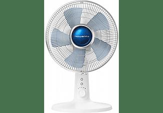 Ventilador de sobremesa - Rowenta VU2730F0, 45 m³/min, 38 dB, 4 Velocidades, Giratorio, Blanco