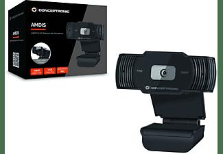 CONCEPTRONIC 1080P FullHD Webcam mit Mikrofon Webcam