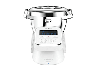 Robot de cocina - Moulinex Companion XL + 2 AC HF9081PT, 1550 W, 4,5 l, 16000 rpm, Bluetooth, Blanco