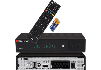 OPTICUM AX300 VFD PVR DVB-S2 Receiver (PVR-Funktion, DVB-S2, Schwarz)