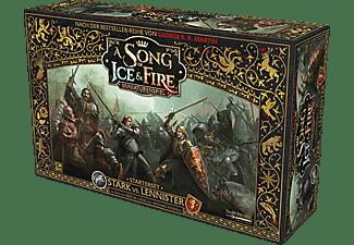 CMON A Song of Ice & Fire: Miniaturenspiel - Stark vs. Lennister - Starterset Familienspiel Mehrfarbig