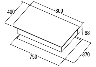Encimera - Cata IB 853 BK, Inducción, Integrable, Eléctrica, 3 zonas, 9+Booster, Control táctil, 80 cm, Negro