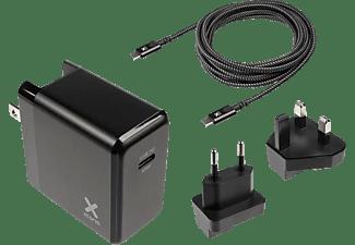 XTORM Volt USB-C PD Laptop Charge Bundlw Reiseadapter universal 65 W, Schwarz