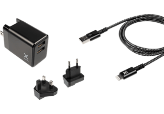 XTORM Volt Lightning Charge Bundle Reiseadapter universal 17 W, Schwarz