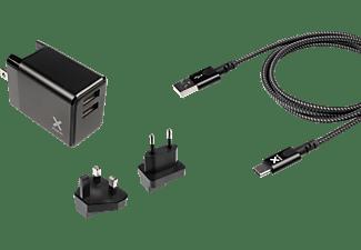 XTORM Volt USB-C Charge Bundle Reiseadapter universal 17 W, Schwarz