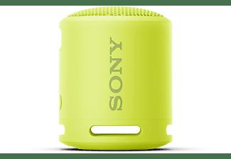 SONY SRS-XB13 Bluetooth Lautsprecher, Gelb, Wasserfest