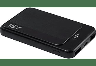 Powerbank - Isy IPP-5000-C-BK, 5000 mAh, 2.4 A, Control de carga, Micro USB, USB-C, Negro