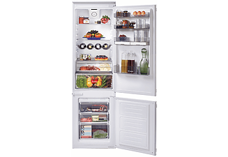 Frigorífico combi integrable - Candy BCBF 182N, 262l, No Frost, 185cm, Botellero, LED, Blanco