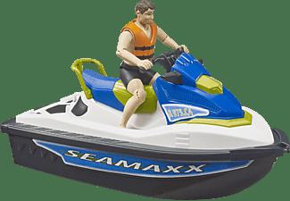 BRUDER bworld Personal Water Craft mit Fahrer Spielfahrzeug Mehrfarbig