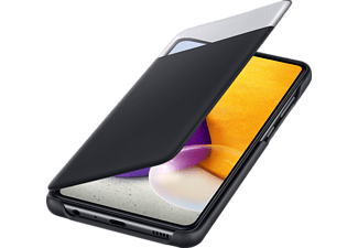 SAMSUNG S View Wallet Cover, Bookcover, Samsung, Galaxy A72, Schwarz