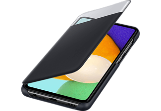 SAMSUNG S View Wallet Cover, Bookcover, Samsung, Galaxy A52, Galaxy A52 5G, Schwarz