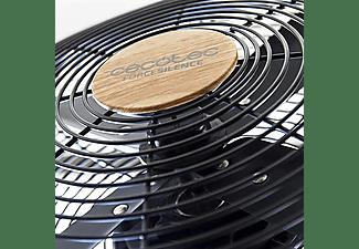 Ventilador de sobremesa - Cecotec EnergySilence 560 WoodDesk, 3 velocidades, 45W, 30 cm, Efecto Madera, Negro