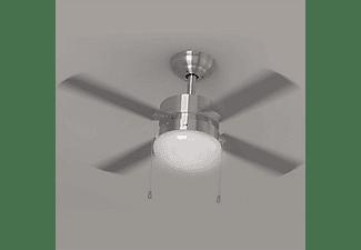 Ventilador de techo - Cecotec EnergySilence Aero 450, Con luz, Función frío y calor, 50W, 106 cm, Inox