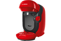 Cafetera de cápsulas - Bosch TAS1103, 1400 W, 0.7 l, 3.3 bar, T DISCS, 5 LEDs, Rojo