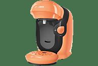 Cafetera de cápsulas - Bosch TAS1106, 1400 W, 0.7 l, 3.3 bar, T DISCS, 5 LEDs, Naranja