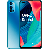 "Móvil - OPPO Reno 4 5G, Azul, 128 GB, 8 GB, 6.4"" FHD+, Qualcomm Snapdragon 765G, 4000 mAh, Android"