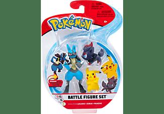 Pokémon - Battle Figuren Pikachu, Zorua und Lucario