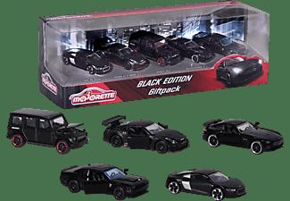 MAJORETTE Black Edition 5er Geschenkset Spielzeugautos Schwarz