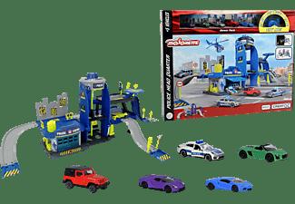 MAJORETTE Creatix Polizei Spielset inklusive 5 Spielzeugautos Mehrfarbig