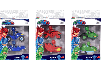 DICKIE TOYS PJ Masks Twin Pack, 3-sortiert Spielzeugauto Mehrfarbig