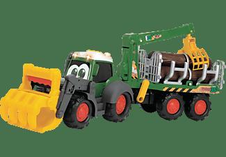 DICKIE TOYS ABC Fendti Forester, Traktor mit Anhänger Spielzeugauto Grün