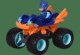DICKIE TOYS PJ Masks Single Pack Cat-Car Mega Wheelz inkl. Catboy Figur Spielzeugauto Blau