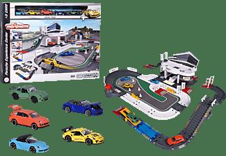 MAJORETTE Porsche Experience Center Spielset inklusive 5 Spielzeugautos Mehrfarbig