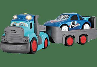 DICKIE TOYS ABC Teddi Trucker, abnehmbarer Anhänger mit Auto Spielzeugauto Blau