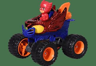 DICKIE TOYS PJ Masks Single Pack Owlette Mega Wheelz inkl. Eulette Figur Spielzeugauto Mehrfarbig