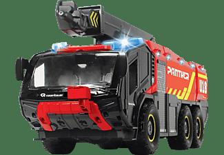 DICKIE TOYS Rosenbauer Flughafenfeuerwehrauto, Panther Spielzeugauto Rot