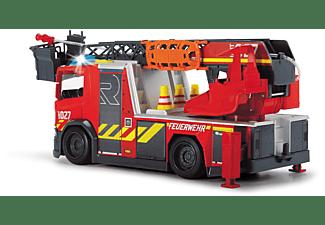 DICKIE TOYS Scania Feuerwehrauto mit Drehleiter Spielzeugauto Rot