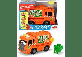 DICKIE TOYS Happy Müllauto Spielzeugauto Orange