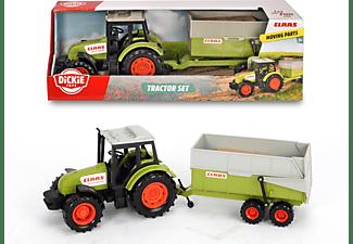 DICKIE TOYS Claas Traktor mit Anhänger Spielzeugauto Grün