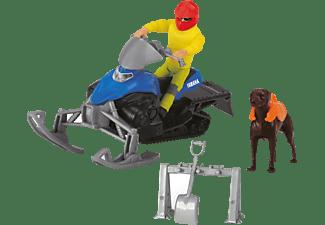 DICKIE TOYS Playlife Schneemobil Set, Yamaha Schneemobil Phazer Spielzeugauto Mehrfarbig