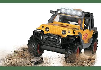 DICKIE TOYS Adventure Commander, Jeep, Tuning Teile, Licht & Sound Spielzeugauto Gelb