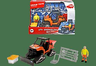 DICKIE TOYS Playlife UTV Schneepflug Set, Winterdienstfahrzeug, Pistenraupe mit Schneeschild Spielzeugauto Mehrfarbig