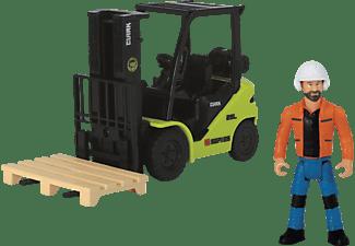 DICKIE TOYS Gabelstapler, Clark S25, Gabel beweglich inkl. Palette Spielzeugauto Mehrfarbig