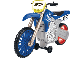 DICKIE TOYS Yamaha YZ, Wheelie Raiders, Spielzeugmotorrad mit Motorisierung Spielzeugauto Blau