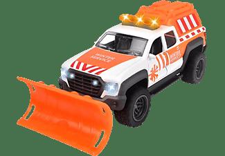 DICKIE TOYS Schneepflug Pick Up, bewegliche & abnehmbare Schaufel Spielzeugauto Orange
