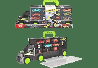 DICKIE TOYS Carry & Store Transporter,  Platz für 28 Fahrzeuge auf 4 Ebenen Spielzeugauto Mehrfarbig