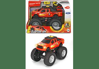 DICKIE TOYS Ford Raptor, Wheelie Raiders, Monster-Truck Spielzeugauto Rot